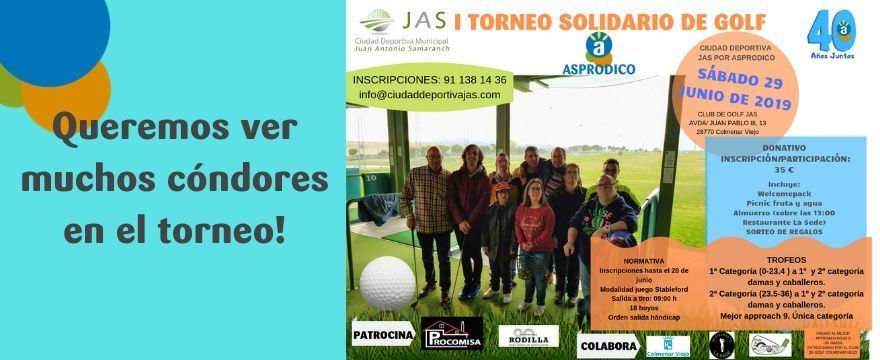 Cartel torneo golf